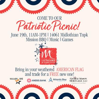 Patriotic Picnic FB and IG Graphic
