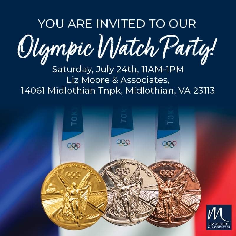 Join us for Our Olympic Watch Party - July 24th