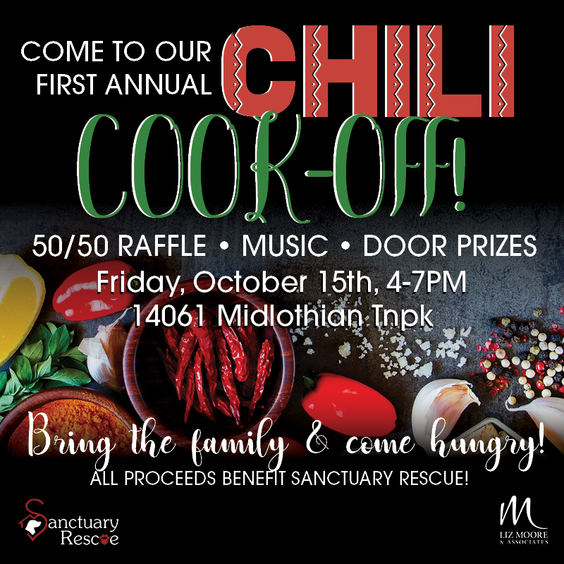 Chili Cook-Off at Liz Moore & Associates Richmond Office to Benefit Sanctuary Rescue
