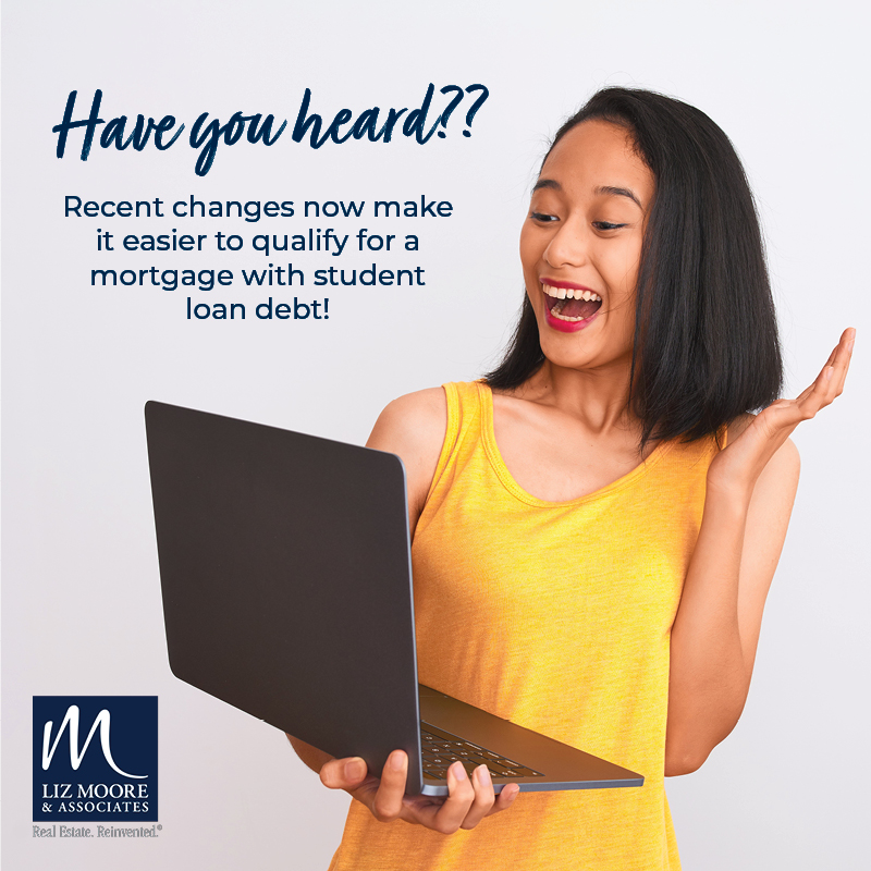 Qualifying for a Mortgage with Student Loan Debt is Now Easier