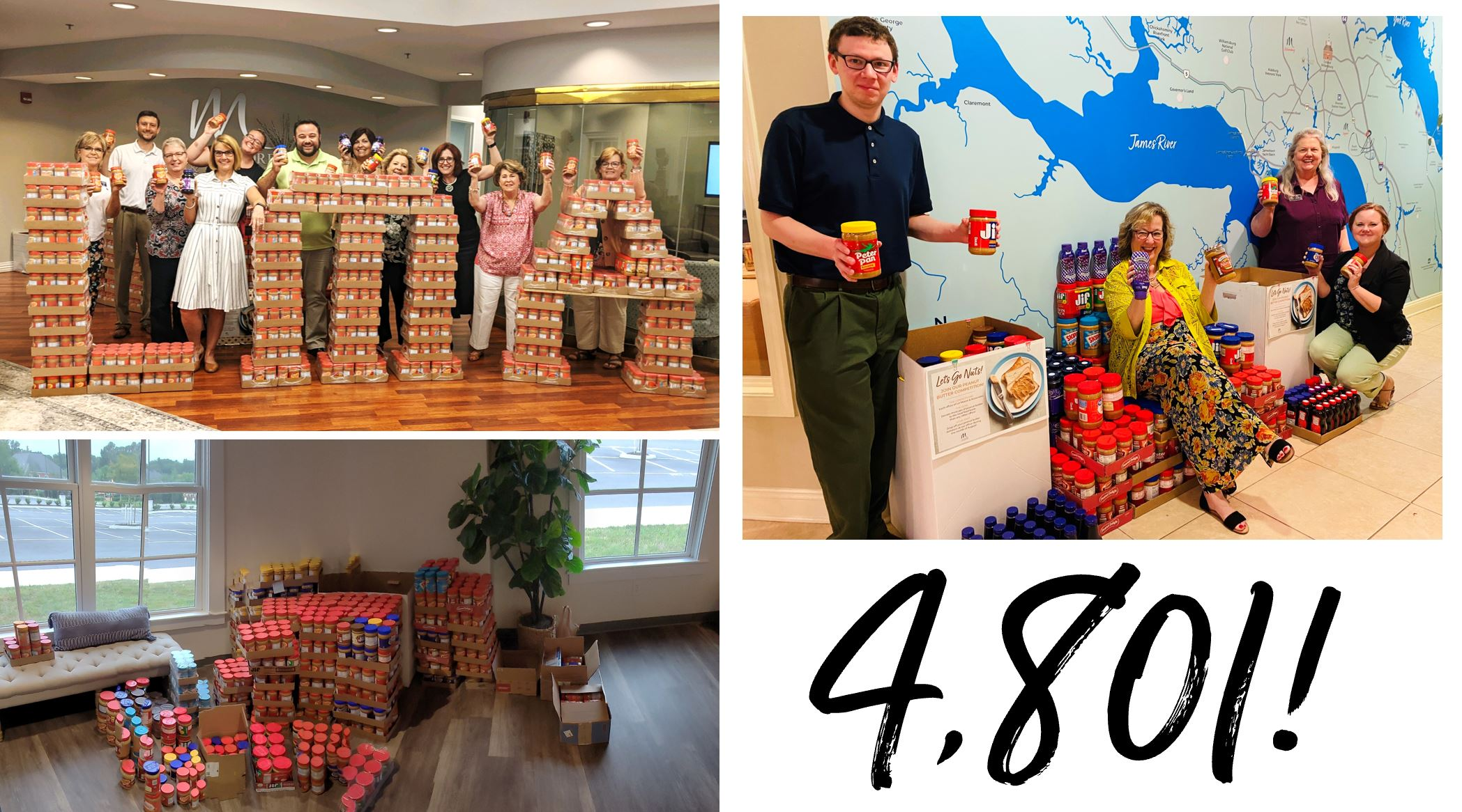 4,801 Jars of Peanut Butter Collected for Local Food Banks